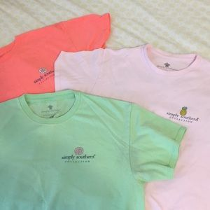 bundle of simply southern t-shirts